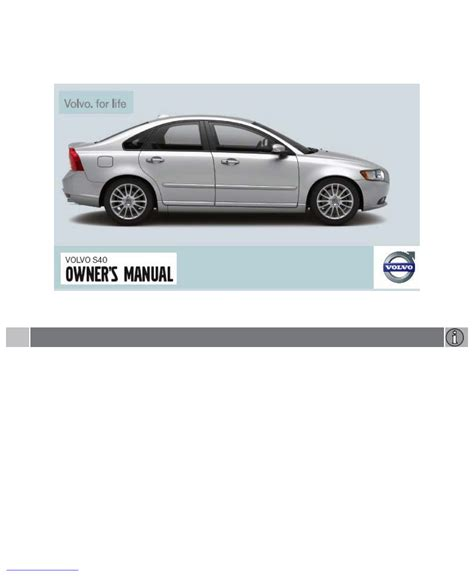 car service manuals pdf 2008 volvo s40 seat position control 2008 volvo s40 owners manual pdf