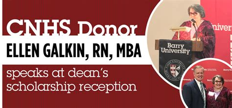 Deans Scholar Unc Mba by College Of Nursing And Health Sciences Barry