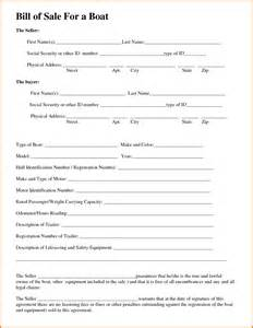 boat bill of sale template doc 600791 bill of sale template for boat bill of sale