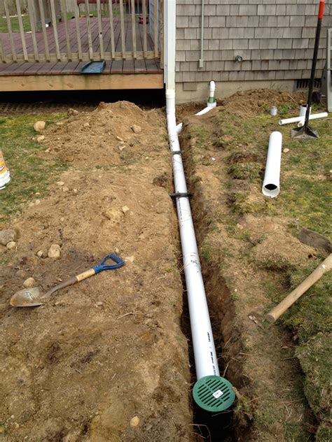 moisture solutions exterior drain installations in ma