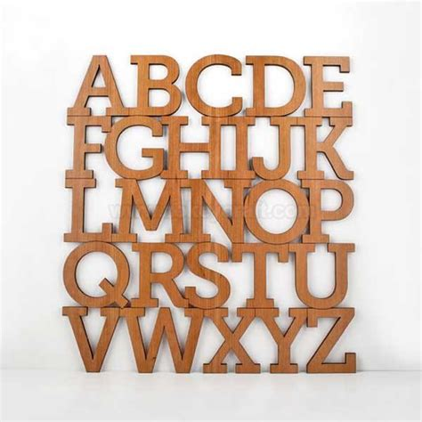 Alphabet Decor by Bamboo Alphabet Letter Modern Typography Nursery Wall