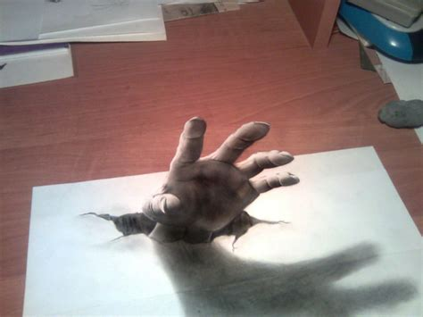How To Make 3d Pictures On Paper - 30 stunning 3d drawings on paper designhuntr