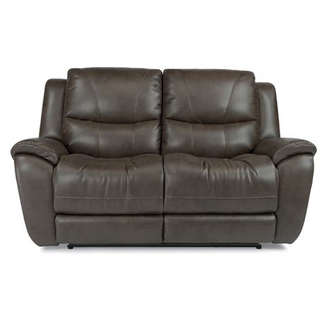 Flexsteel Reclining Loveseat by Flexsteel 1624 60p Hilliard Fabric Power Reclining