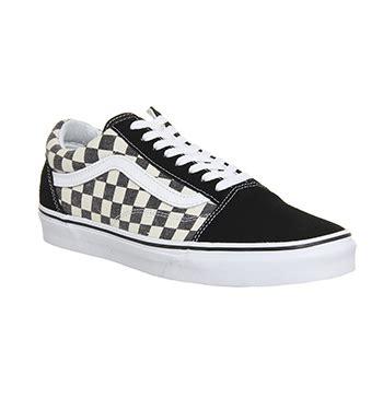 Vans Authentic Checkerboard Black Sole Premium Bnib Brand New In Box vans skool checkerboard black espresso unisex sports