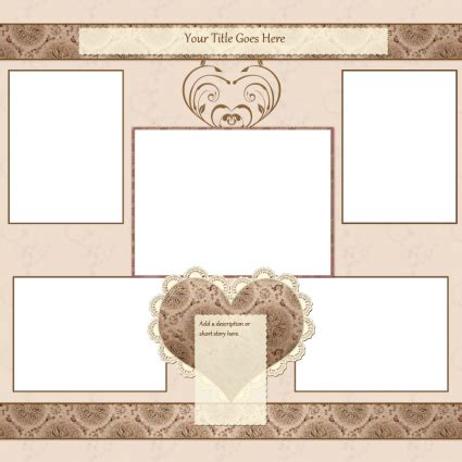 Scrapbook Template free scrapbook templates lovetoknow