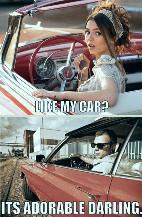 Car Girl Meme - love victoria justice but girl muscle car never 8