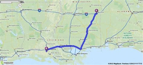 louisiana mapquest driving directions from meridian mississippi to 3903
