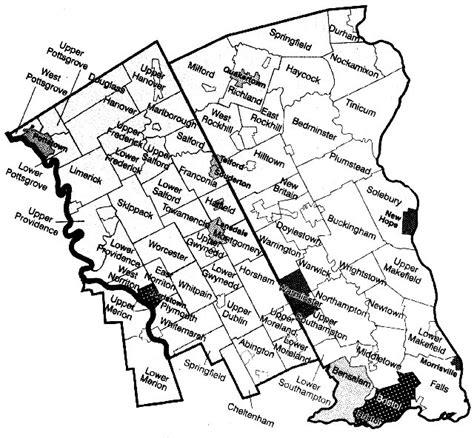map of bucks county maps