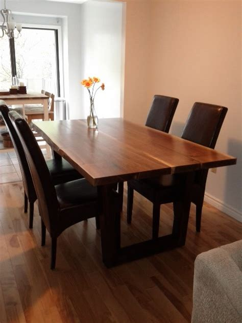 harvest dining room tables live edge harvest table contemporary toronto by tree