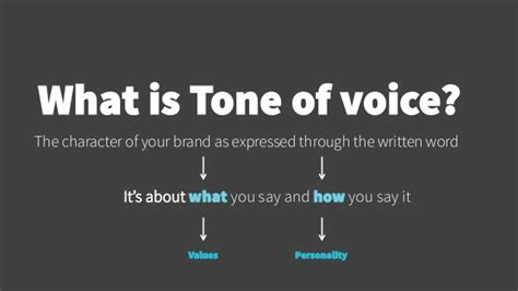 tone on tone stand out with a consistent tone of voice