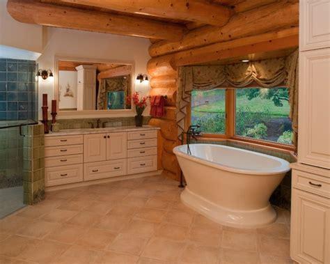 cabin bathroom decor rustic log