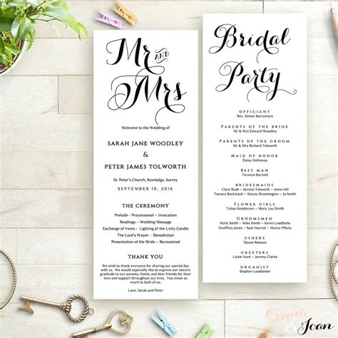 publisher program templates magnificent tri fold wedding program templates