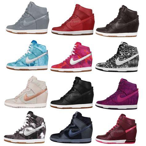 nike heel sneakers wmns nike dunk sky hi print nsw womens wedge sneakers