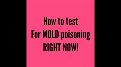 How To Detox Your From Toxic Mold by How You Can Test Yourself For Mold Poisoning Right Now