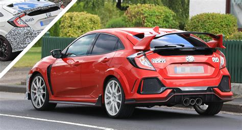 2019 honda civic type r 2019 honda civic type r facelift spied with new bumpers