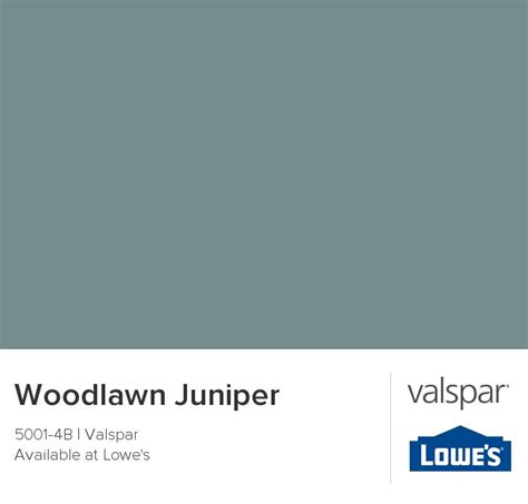 woodlawn juniper from valspar color pallettes
