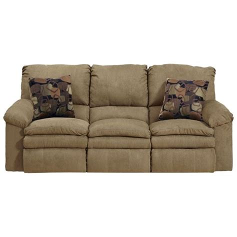 recliner fabric sofas catnapper impulse reclining fabric sofa in cafe