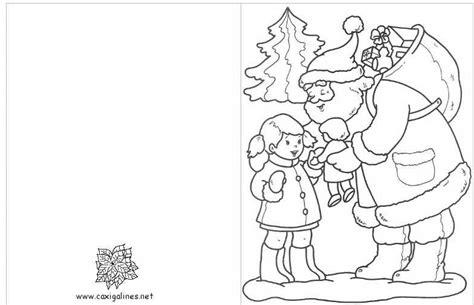 juegos de tarjetas de navidad para colorear imprimir y pintar tarjetas de navidad para colorear e imprimir con pap noel