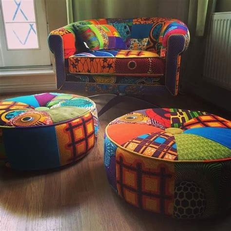 Decoration Africaine by D 233 Coration Africaine Wax Poufs Et Fauteuils Inspiration