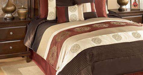 oversized king size bedding  milano russett king bedding set qk ashley