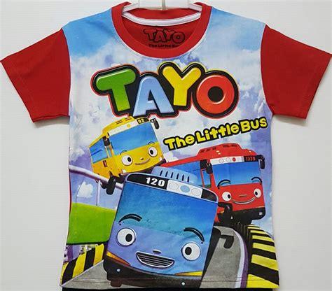 Setelan Anak Size 1 6 Tayo The Traffic Light Biru Muda kaos tayo raglan print 1 6 tayo grosir baju anak grosir eceran baju anak murah berkualitas