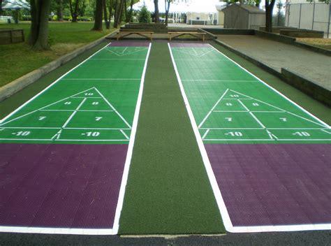 backyard shuffleboard court shuffleboard court