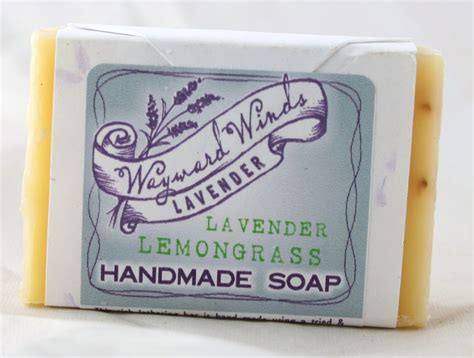 Lemongrass Handmade Soap - wayward winds lavender lemongrass handmade soap 3 oz
