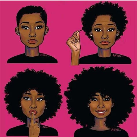 natural hairstyles cartoon end of the year reflections of natural hair journey envy