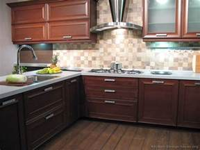 Kitchen Backsplash Ideas For Dark Cabinets by Pictures Of Kitchens Modern Dark Wood Kitchens