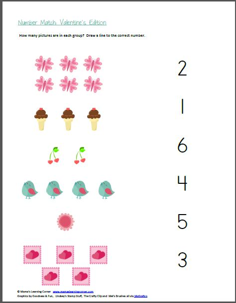number match valentine s edition mamas learning corner