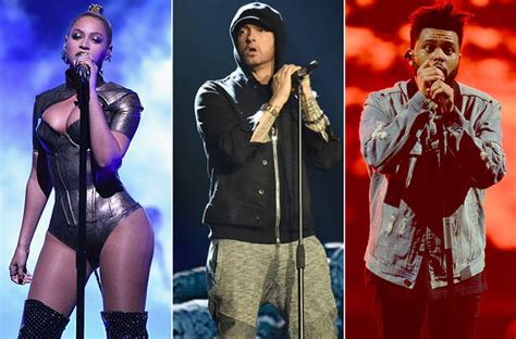 eminem beyonce artists the weeknd rap up