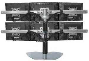 Best Gaming Desks six lcd multiple monitor stand use up to 20 quot lcds