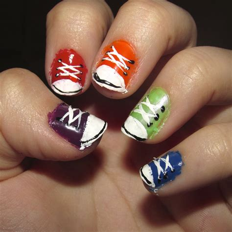 easy nail art converse converse sneaker nails by iluvtssatl on deviantart