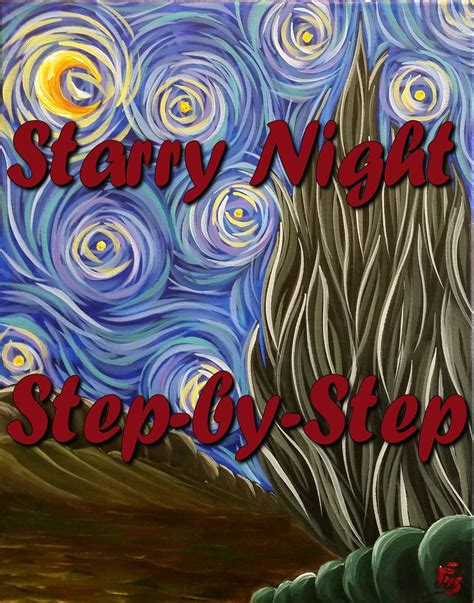 acrylic painting step by step for beginners starry step by step acrylic painting on canvas for