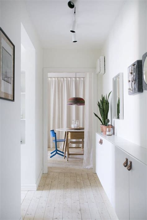 narrow hallway with ikea besta cabinet home pinterest hall interiors and ikea hack