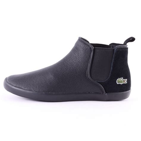lacoste boots lacoste ziane chelsea trc womens boots in black grey