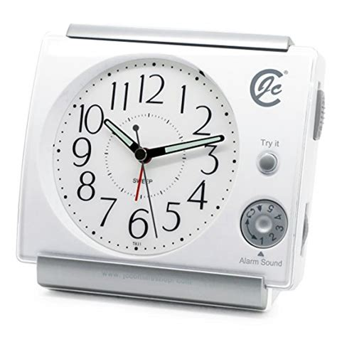 jcc new dynamic alarm sound large numbers adjustable volume silent non ticking sweep