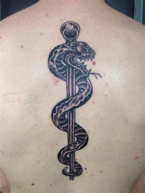 rod of asclepius tattoo rod of asclepius search tattoos n stuff