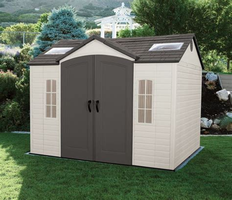 large plastic sheds lifetime 10 x 8 ft shed quality