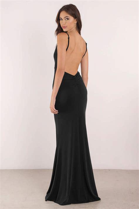 Sexy Black Dress   Open Back Dress   Plunging Neckline   $98   Tobi US