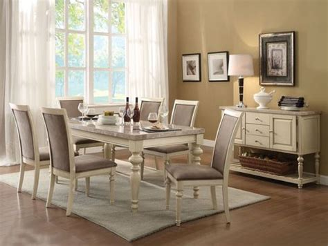 antique white marble top dining table set shop for