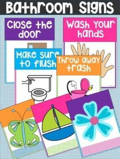 bathroom rules for kids printable bathroom rules reminder signs do your kids