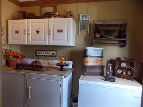 Primitive Laundry Room Decor Manufactured Home Decorating Ideas Primitive Country Style