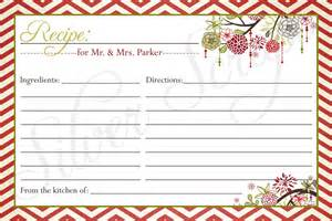 Free Christmas Recipe Card Template Gallery For Gt Christmas Recipe Card Template Free Editable