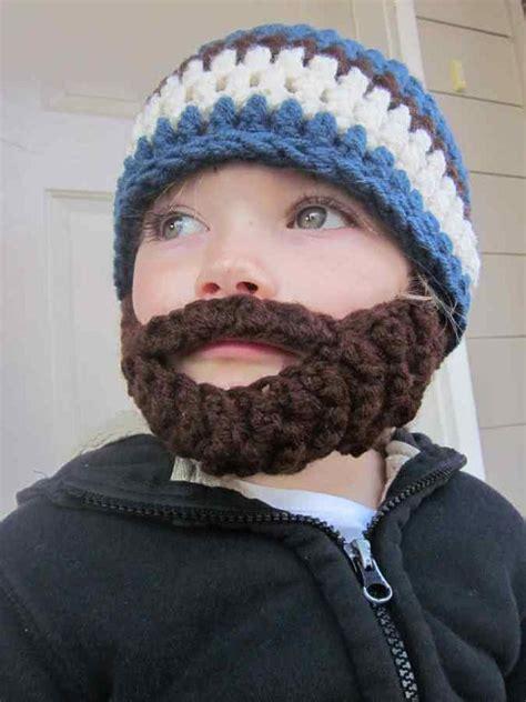 knitted baby beard easy slouchy beanie crochet pattern styloss