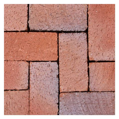 4 X 8 Patio Pavers Mission Split 8 In X 4 In X 1 63 In Tumbled Clay Flash Paver 073602408 The Home Depot