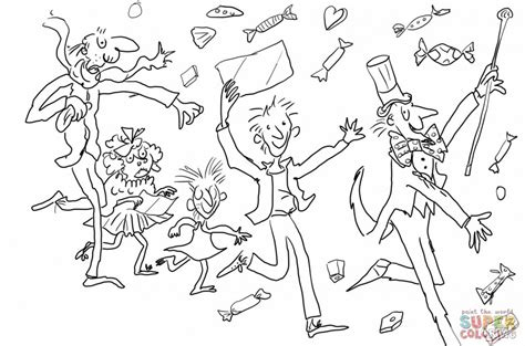 Charlie And The Chocolate Factory Coloring Pages Az And The Chocolate Factory Colouring Pages