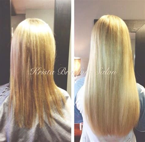 thin hair after extensions long blonde hair hair extensions before after hair