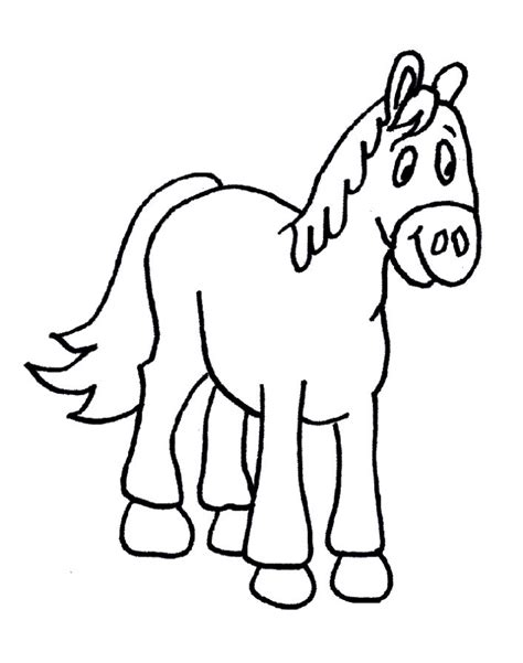 preschool coloring pages horses horse coloring pages for preschoolers driverlayer search