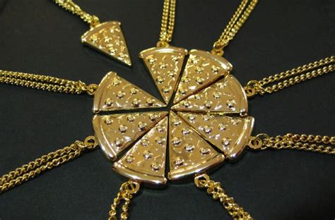 pizza slice friendship necklace for with more than